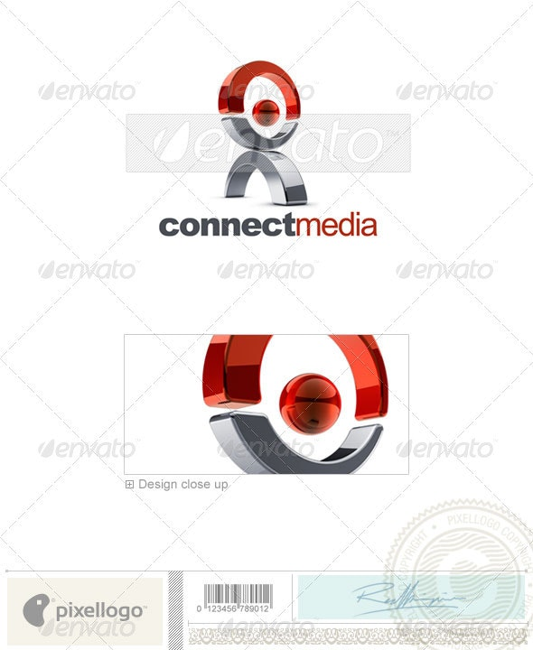 Communications Logo - 3D-630 - 3d Abstract