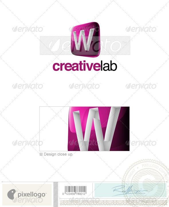 W Logo - 3D-687-W - Letters Logo Templates