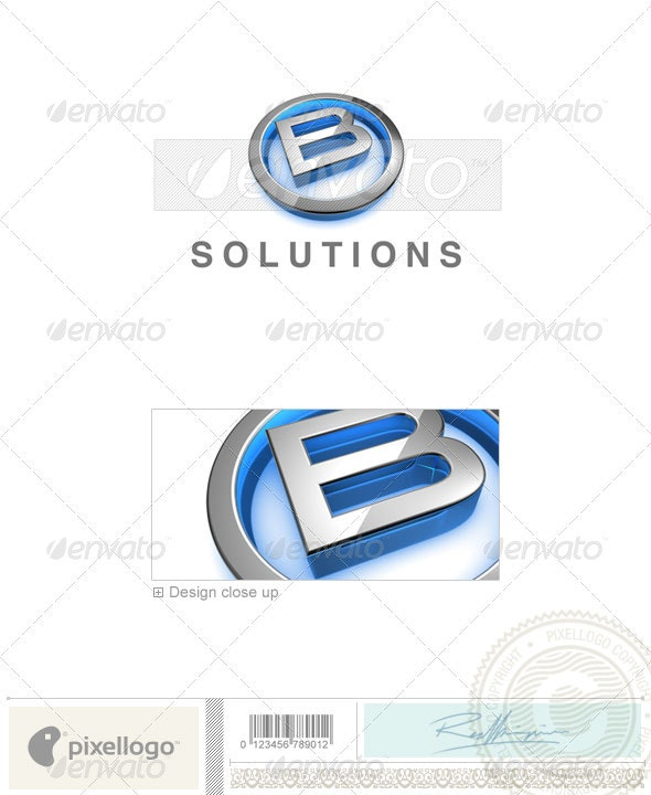 B Logo - 3D-683-B - Letters Logo Templates