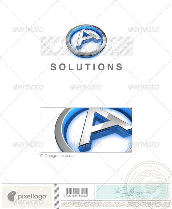 A Logo - 3D-683-A - Letters Logo Templates
