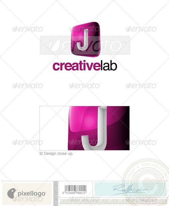 J Logo - 3D-687-J - Letters Logo Templates