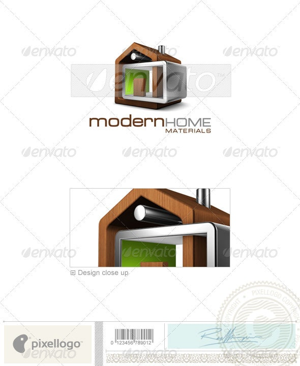 Home & Office Logo - 3D-512 - 3d Abstract