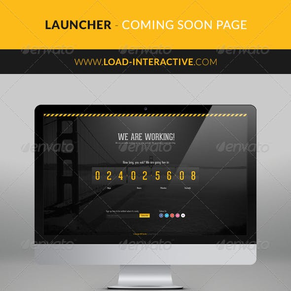 Launcher Coming Soon Page