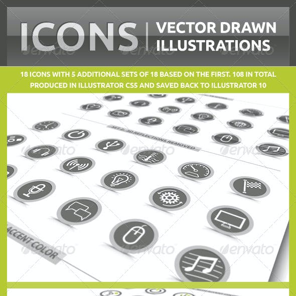 Icons / Vector Drawn Illustrations