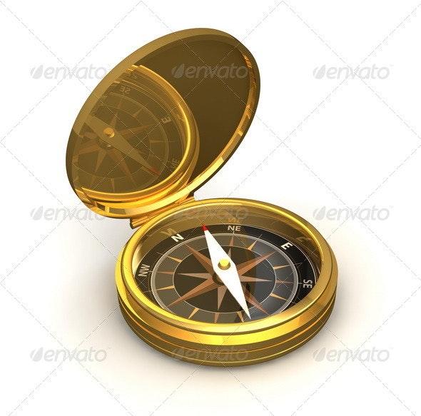 Golden Compass - Objects 3D Renders
