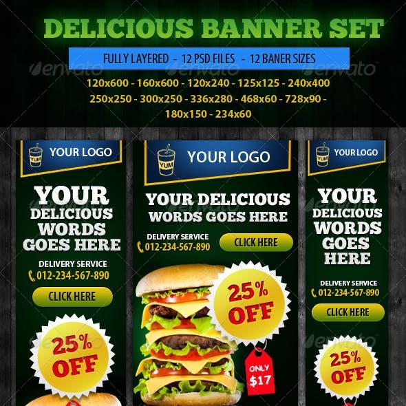 Delicious Banner ad Design