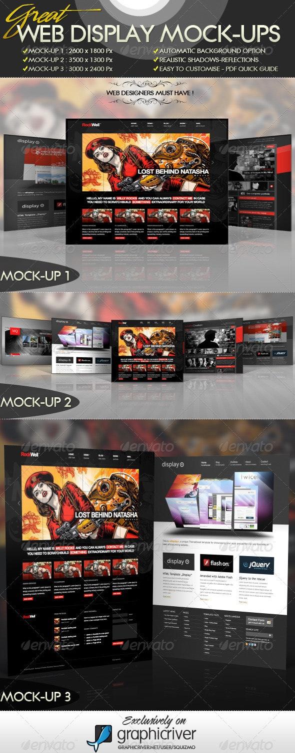 Web Display Mock-Ups - Website Displays