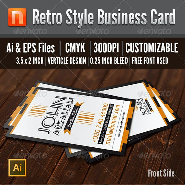 Retro Style Business Card - V9