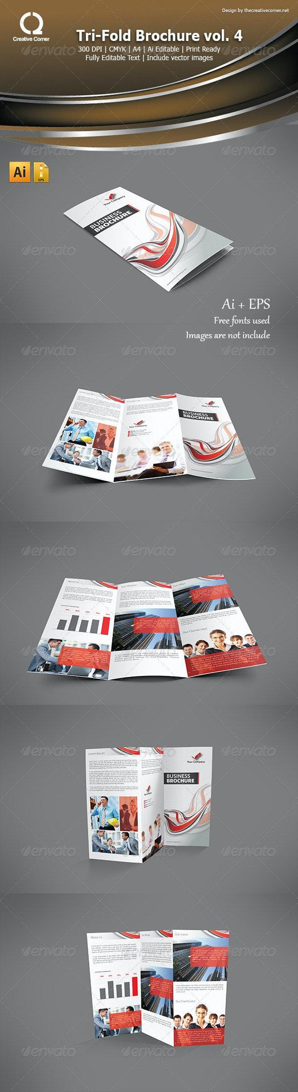 Multipurpose Tri-Fold Brochure Template Vol 04 - Corporate Brochures