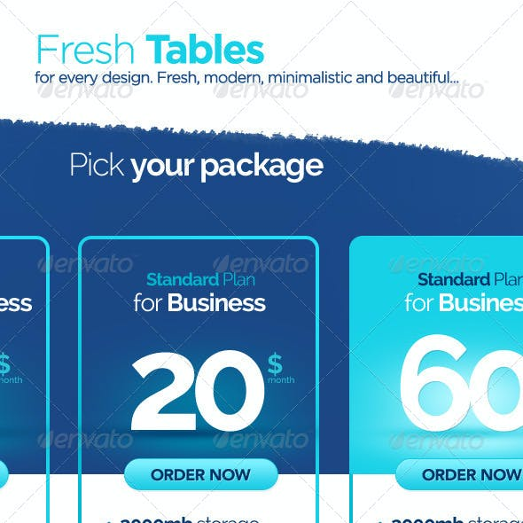 Fresh Corporate Pricing Table