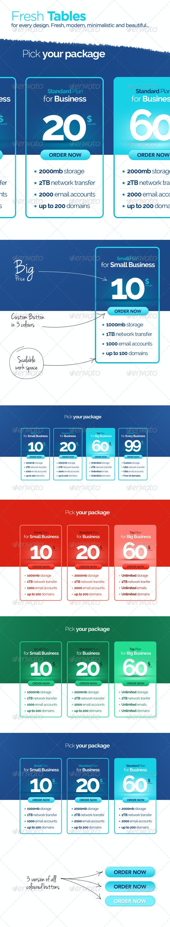 Fresh Corporate Pricing Table - Tables Web Elements