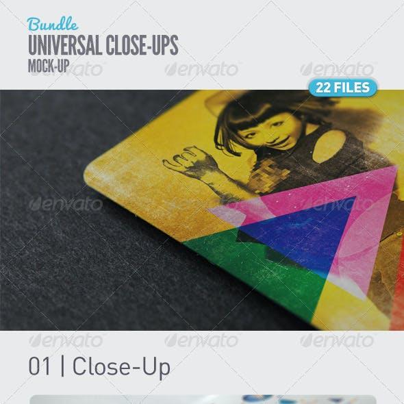 Universal Close-Up Mock-Up Bundle