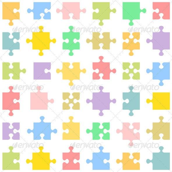Puzzle Pieces - Abstract Conceptual