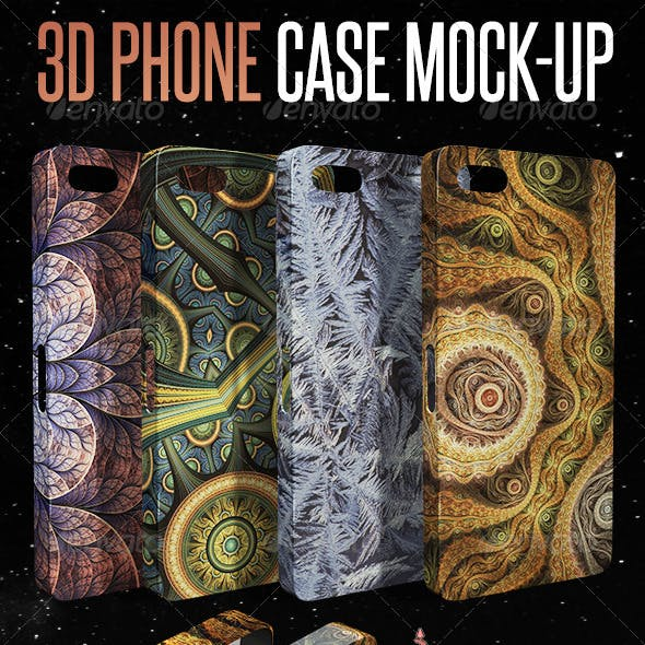 3D Phone Case Mock-up