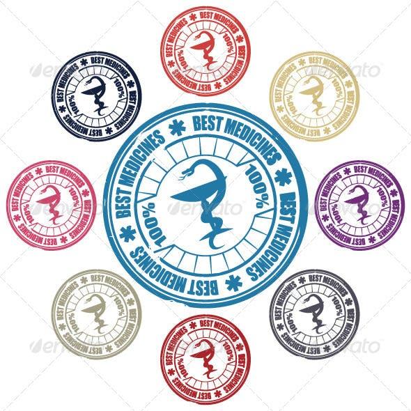 Medical Snake Stamp