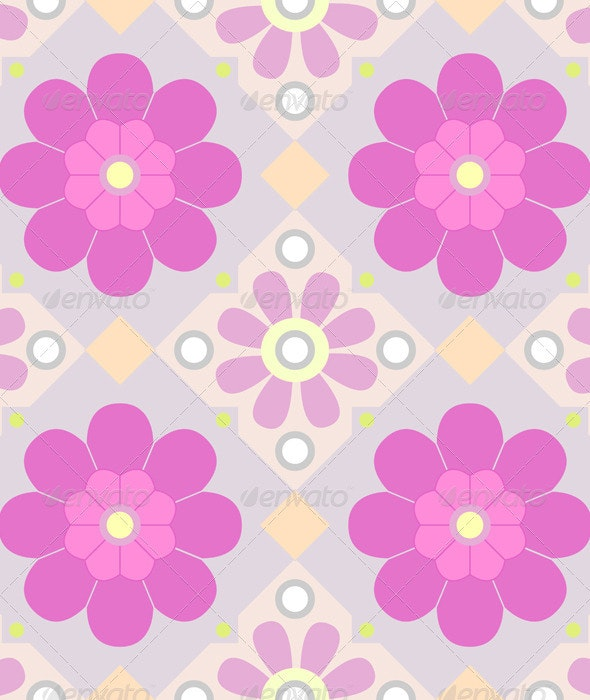 Pastel seamless floral pattern - Patterns Decorative