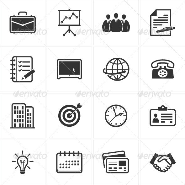 Business and Office Icons - Business Icons