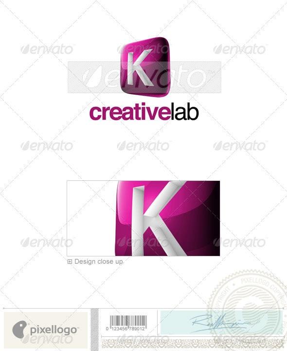 K Logo - 3D-687-K - Letters Logo Templates