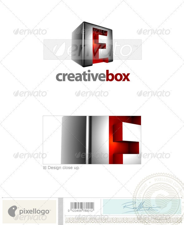 E Logo - 3D-554-E - Letters Logo Templates