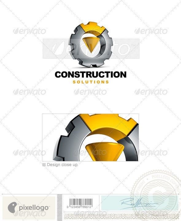 Industry & Science Logo - 3D-542 - 3d Abstract