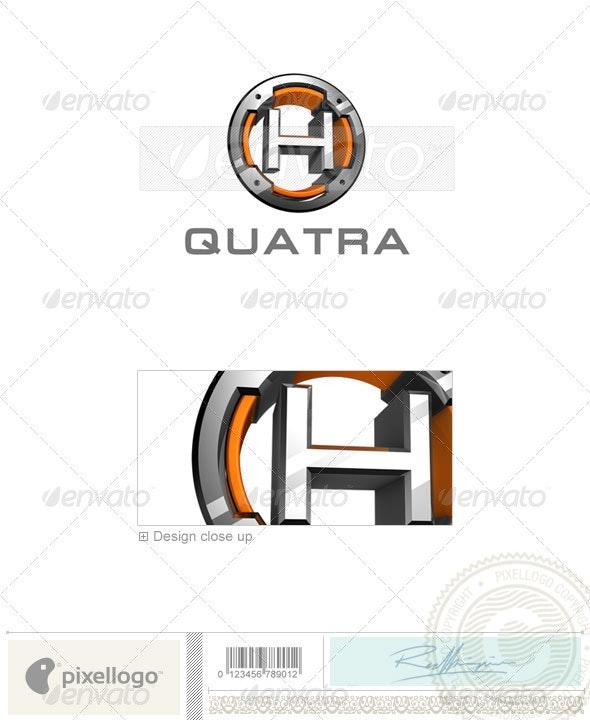 H Logo - 3D-494-H - Letters Logo Templates