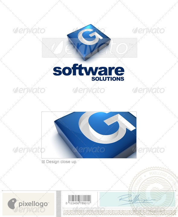 G Logo - 3D-644-G - Letters Logo Templates