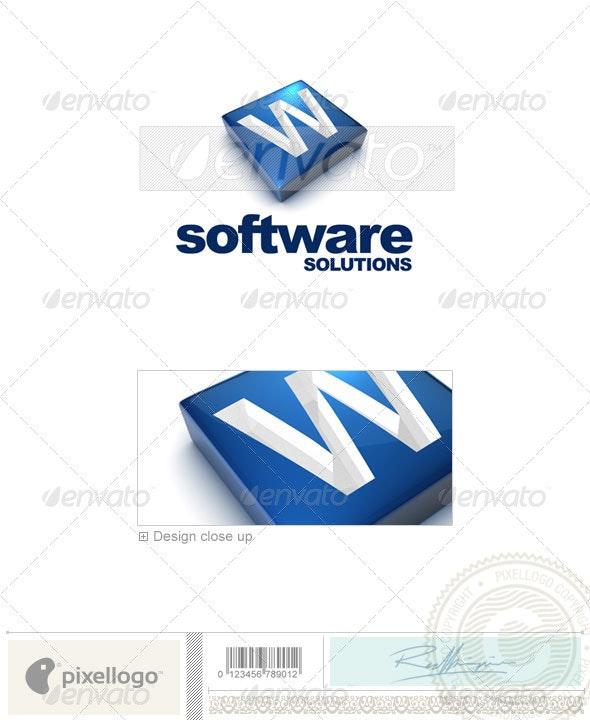W Logo - 3D-644-W - Letters Logo Templates