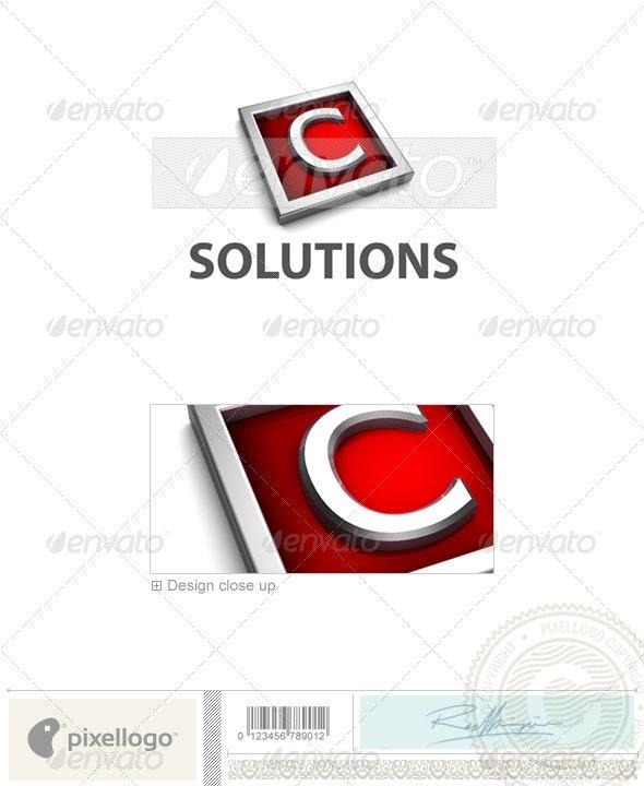 C Logo - 3D-549-C - Letters Logo Templates