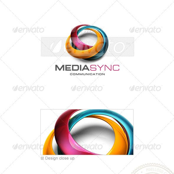 Communications Logo - 3D-539