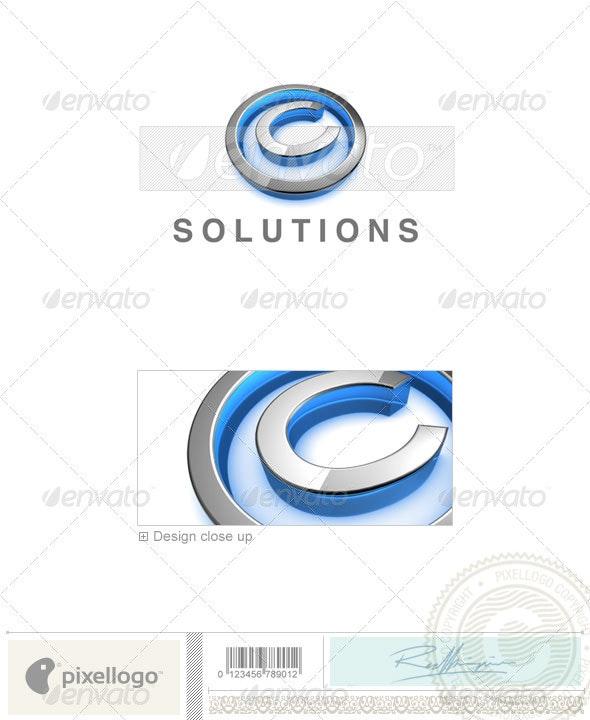 C Logo - 3D-683-C - Letters Logo Templates