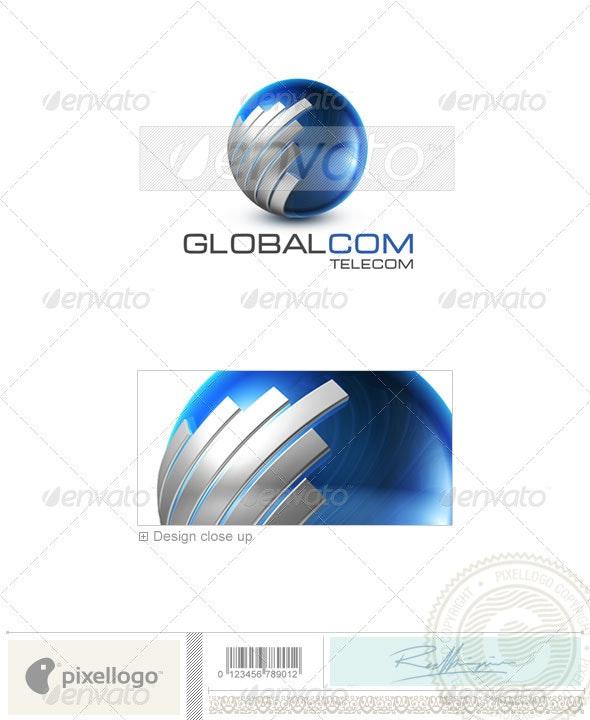 Communications Logo - 3D-503 - 3d Abstract