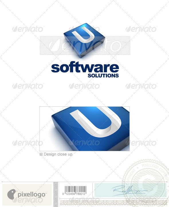U Logo - 3D-644-U - Letters Logo Templates