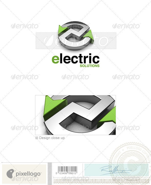 Industry & Science Logo - 3D-586 - 3d Abstract