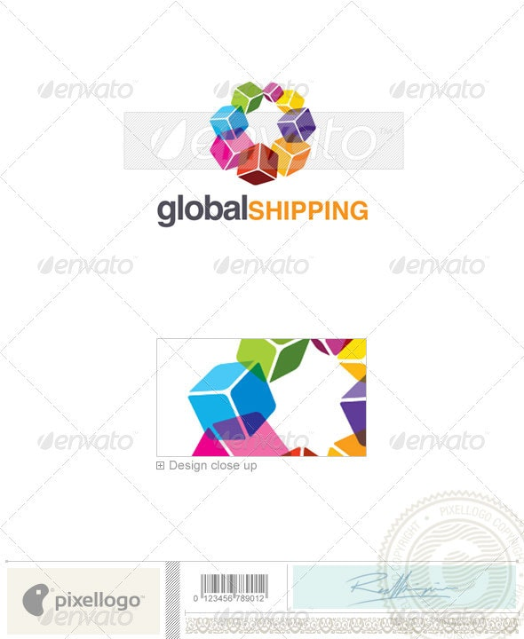 Transportation Logo - 2267 - Vector Abstract