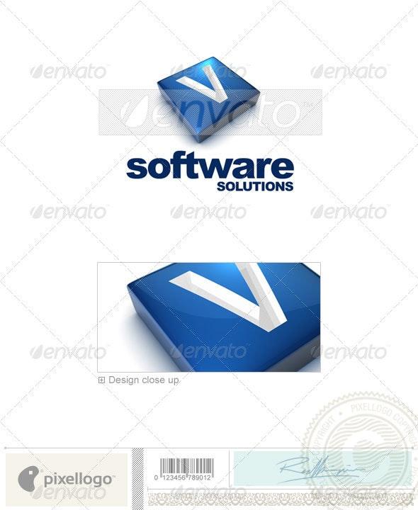 V Logo - 3D-644-V - Letters Logo Templates