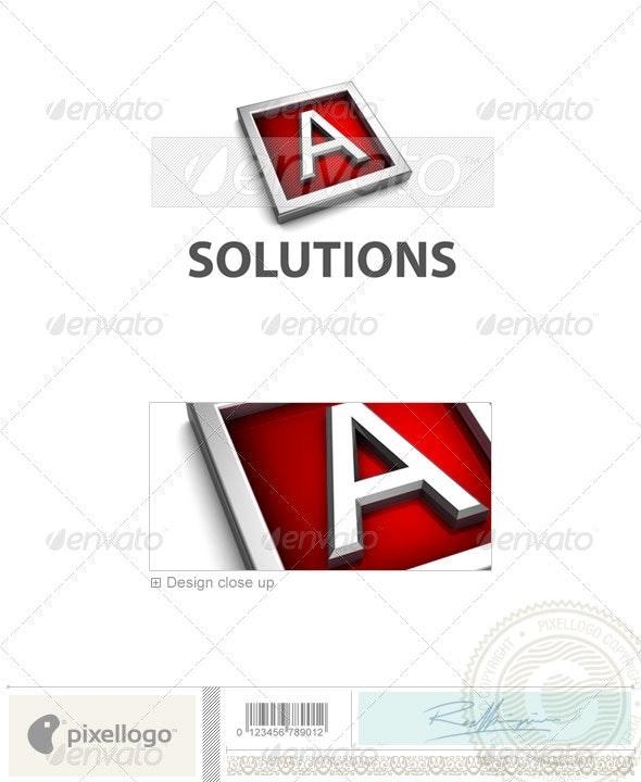 A Logo - 3D-549-A - Letters Logo Templates