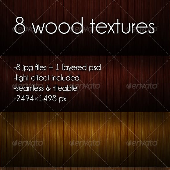 8 Tileable Seamless Wood Textures