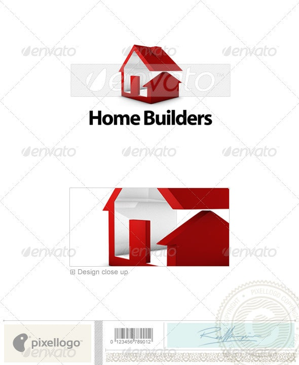 Home & Office Logo - 3D-636 - 3d Abstract