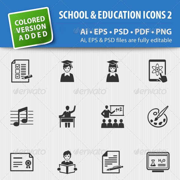 School and Education Icons-Set 2