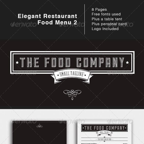 Elegant Food Menu 2