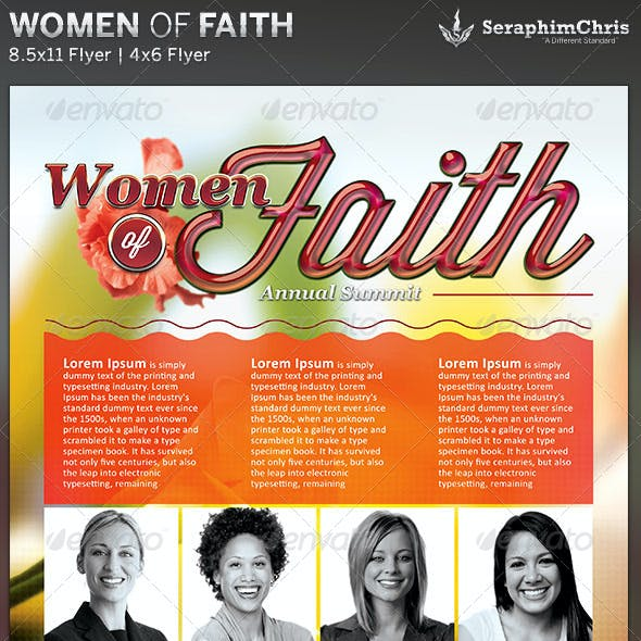 Women of Faith: Church Flyer Template
