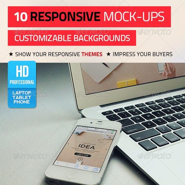 10 Responsive Mock-Ups