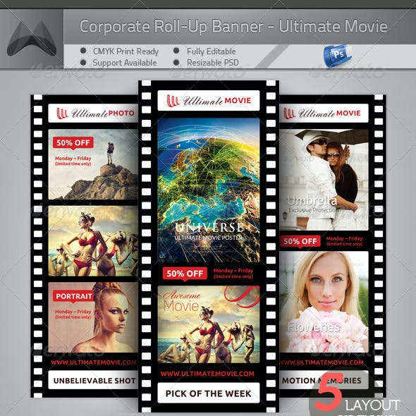 Ultimate Movie and Photography- Roll-Up Banner