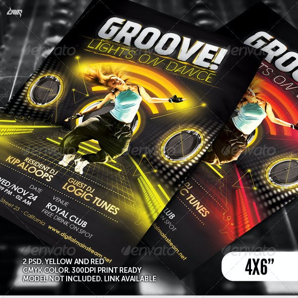 Groove Dance Club Flyer Template