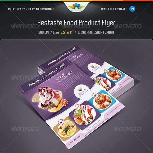 Bestaste Food Product Flyer