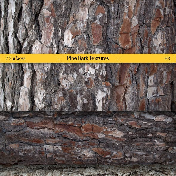 Pine Bark Surfaces Texture Backgrounds