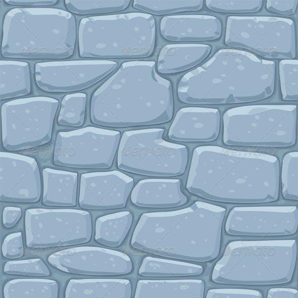 Seamless Pattern of Masonry Stone Wall