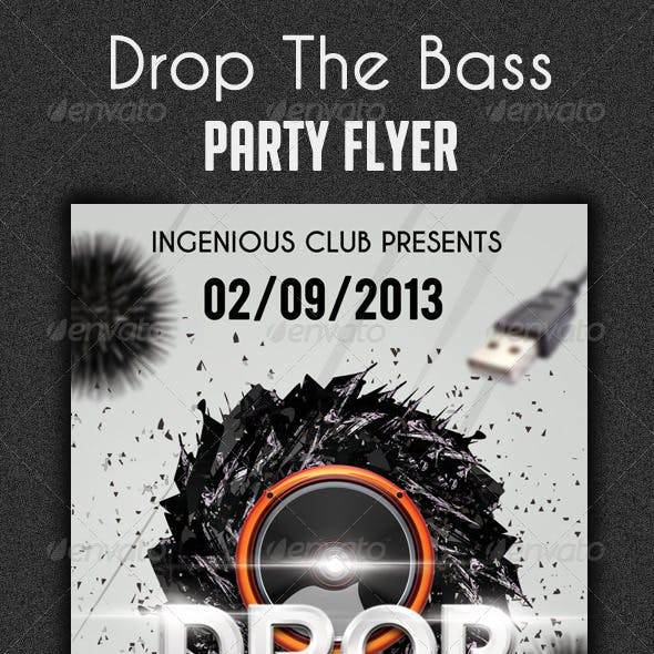 Drop The Bass Flyer Template