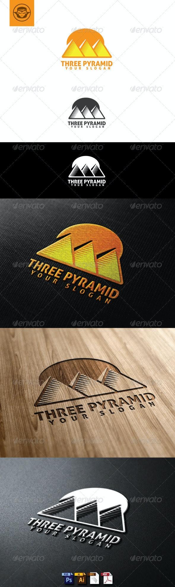 Three Pyramid Logo Template