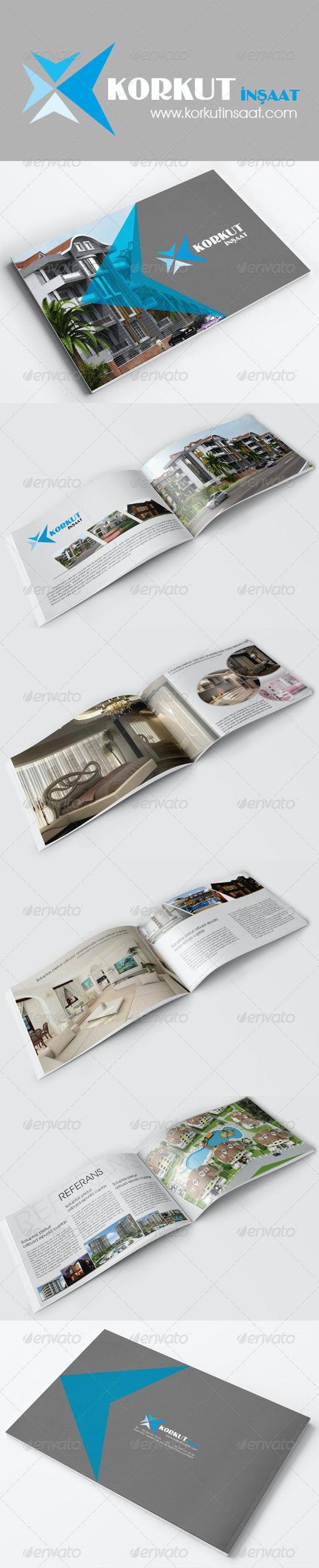 Korkut Construction Brochure - Brochures Print Templates